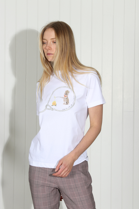 Ganni Harris Tee - white