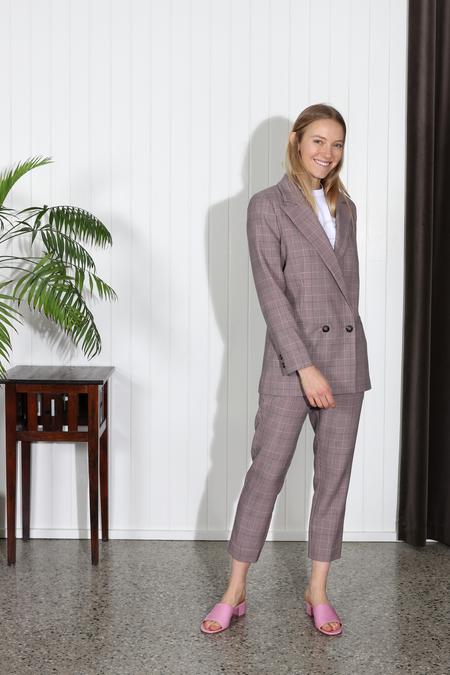 Ganni Hewitt Pant - Silver Pink