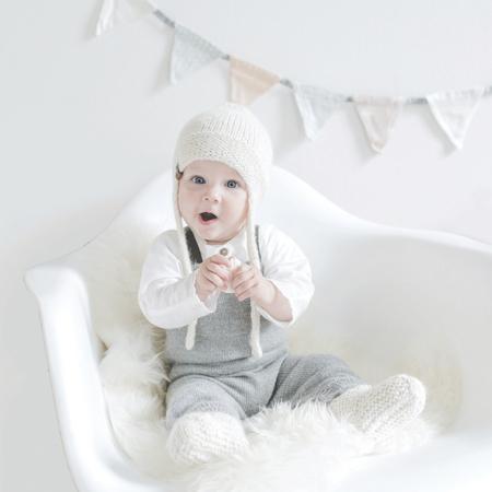 KIDS Petit Kolibri BABY ALPACA HAT - BEIGE