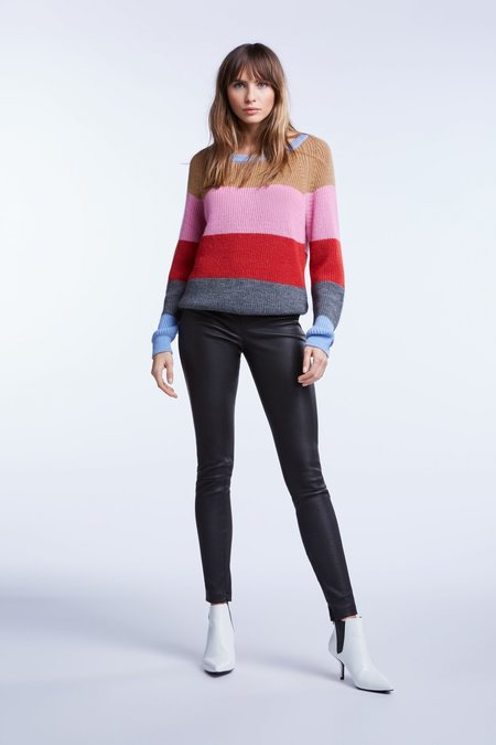 Set Striped Pullover - Light Blue/Red/Rose