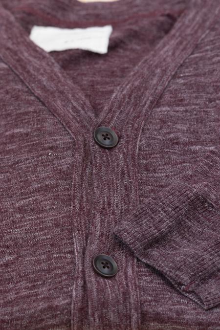 V :: ROOM Linen Ester Jersey Cardigan - Wine