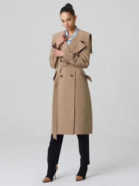 HAE BY HAEKIM Sailor Collar Coat - Beige