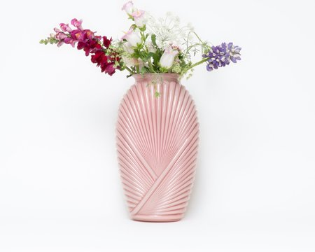 Collected by Wynne Ware Art Deco Opaline Glass Vase - PINK