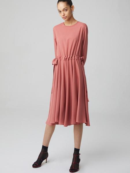 HAE BY HAEKIM Long Flare Dress - Pink