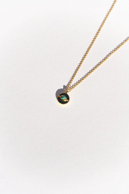Sierra Winter Evil Eye Necklace - Gold/Turquoise