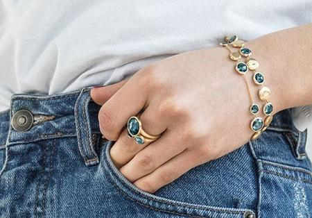 Marco Bicego Jaipur Mixed Blue Topaz Bracelet - 18K Yellow Gold