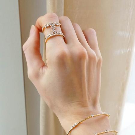 Diamond Dream Signature Double Band Ring - 18K Rose Gold
