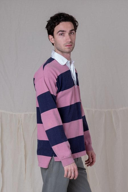 VINTAGE SHOP BOSWELL RUGBY SHIRT 01 - PINK STRIPE