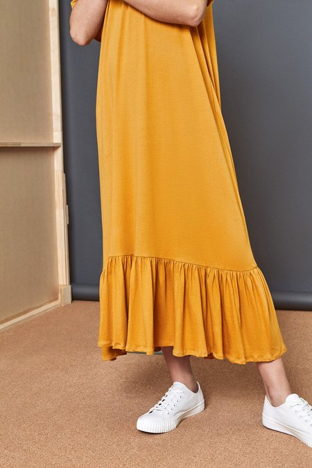 Kowtow Gather Hem Dress - AMBER