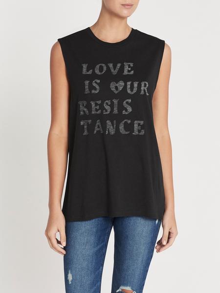 Zoe Karssen Love is our Resistance Boyfriend Fit Tank - Moonless Night