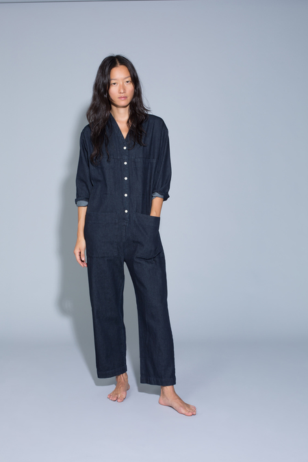 c4c85f4983a Ilana Kohn Tuck Coverall in Denim Ilana Kohn Tuck Coverall in Denim