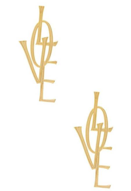 Natalie B. Jewelry Love Earrings - 14k GOLD