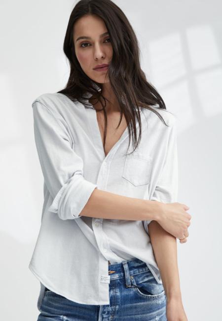 TEE LAB by FRANK & EILEEN LAB EILEEN shirt - Dirty White