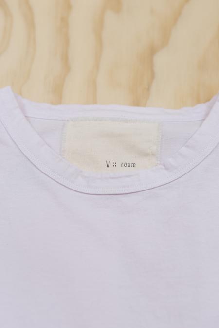 V :: ROOM High Gage Jersey Short Sleeve Cotton Crewneck T-shirt - Lavender