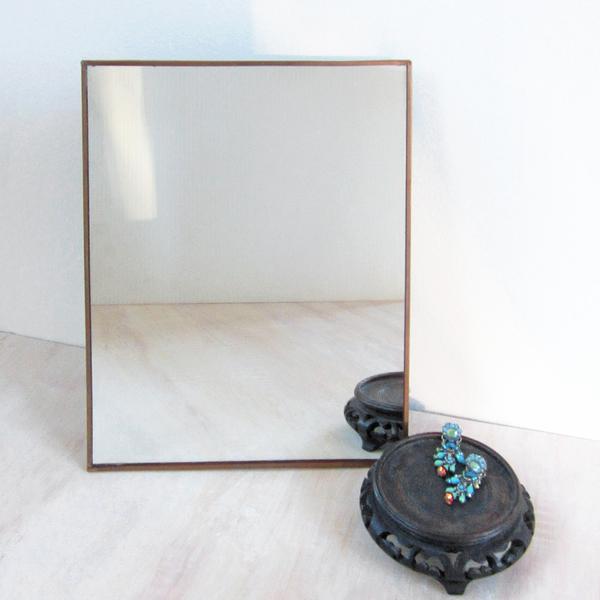 copper-framed easel mirror