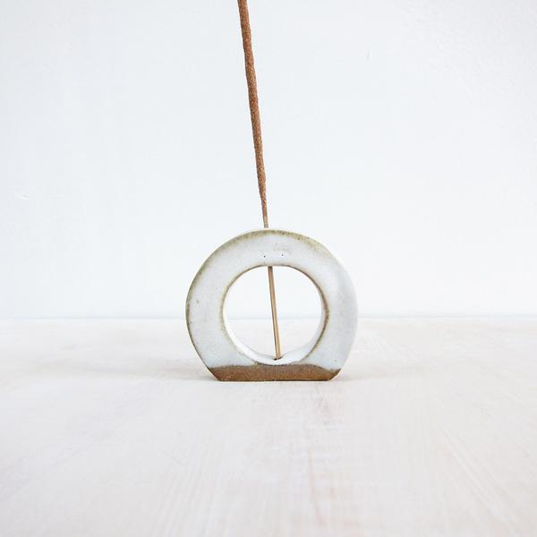 stoneware incense holder
