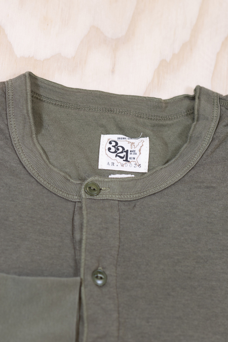 American Rag Cie Long Sleeve Henley in Army