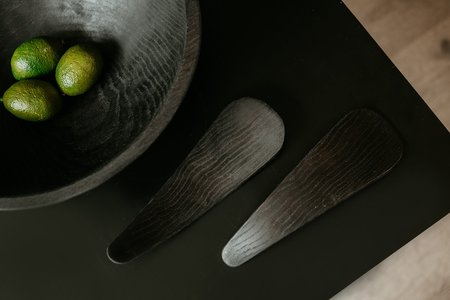 CLEMENTINE'S Ebonized Oval Bowl - Black