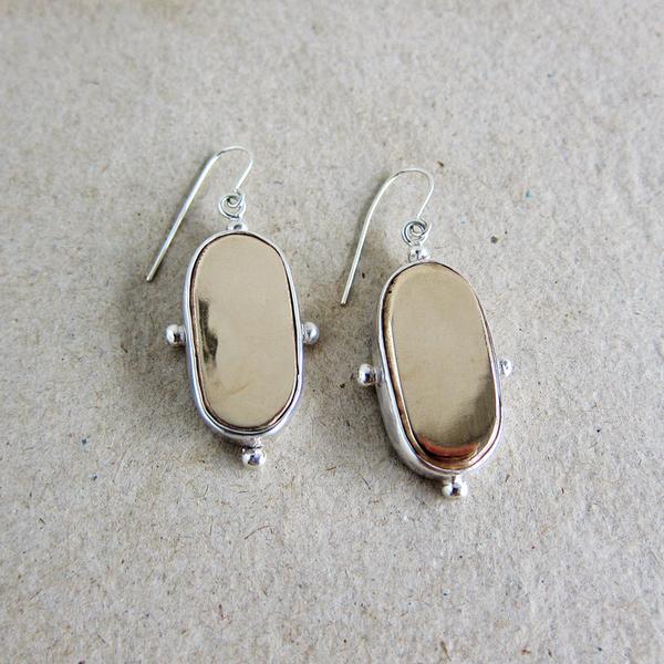 Peter Hofmeister long oval earrings