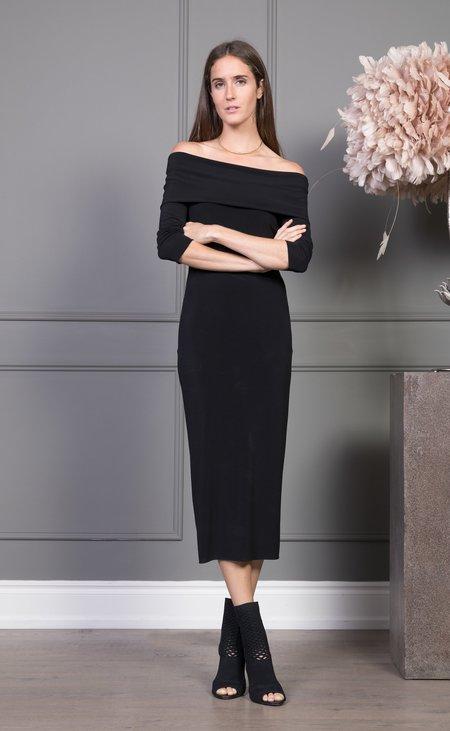 CLEMENTINE'S x MEROTTO Christina 1/2 Sleeve Dress - Black