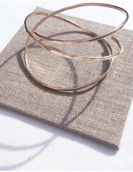 Leandra Hill Metalworks Orbit Bangle - Rose Gold