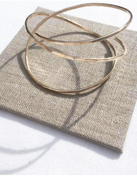 Leandra Hill Metalworks Orbit Bangle - 14k Gold