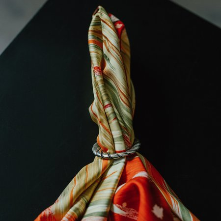 Vintage Hermès Feux Du Ciel Scarf - Orange Sage