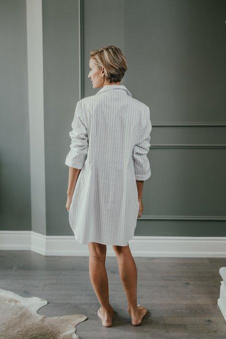 KIP. Sleepwear Nightshirt - Grey Stripe
