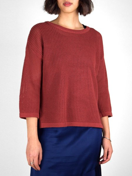 &Another Jaclyn Sweater - Brick Red