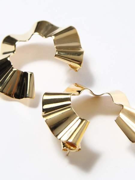 Gaviria Small Ravioli Earrings - Gold