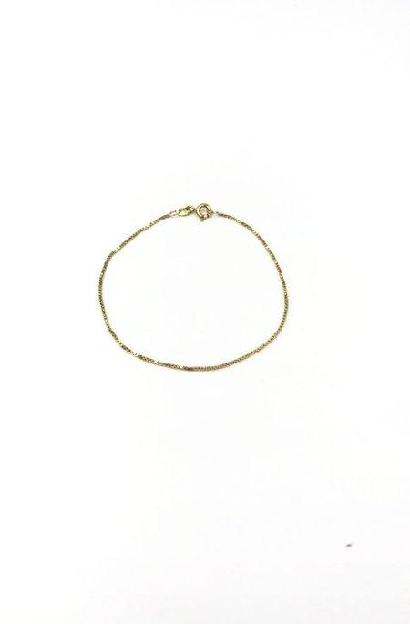 GJenmi 14k Box Chain Bracelet - Gold