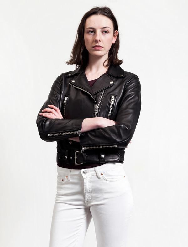 Acne Studios Mock Leather Black