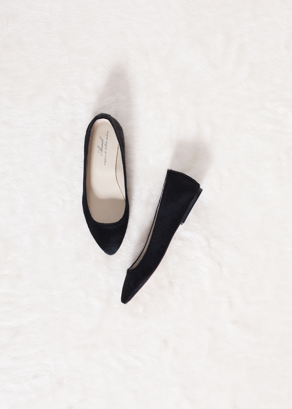 Anniel Pointed Ballerina - black pony