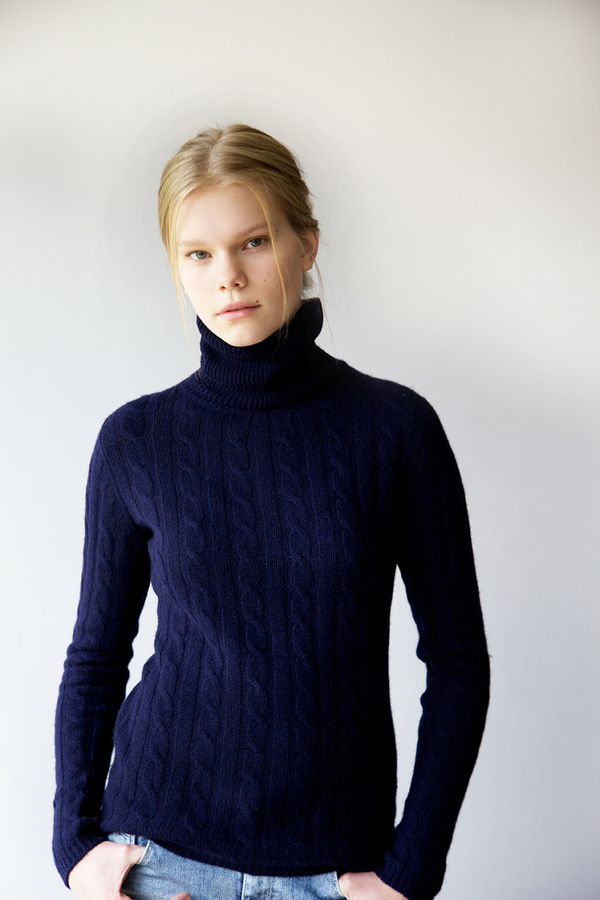 Homespun Cashmere - Marie Cable Roll Neck