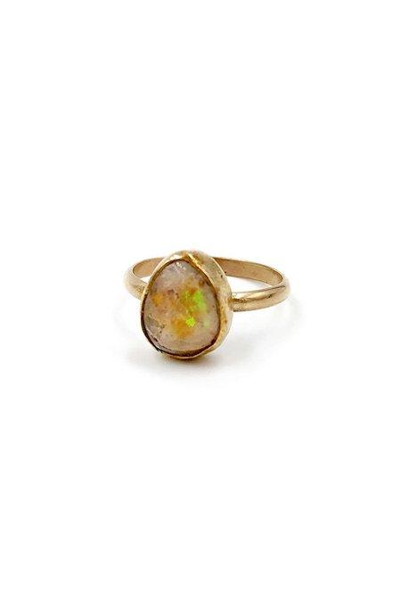 Broken Arrow Fire Opal Prescott Ring - Gold