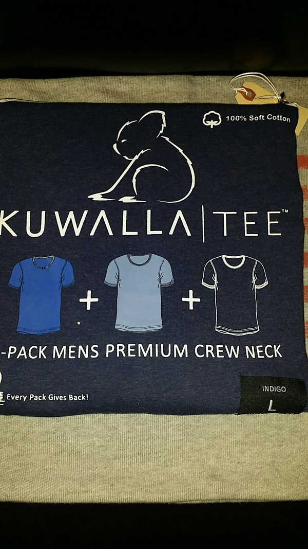 Men's KuwallaTee - 3 Pack Crew Neck 3 Shades of Blue