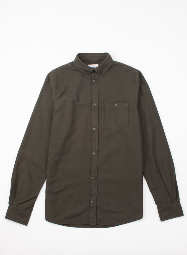 Men's Norse Projects Anton Oxford Overdyed Green