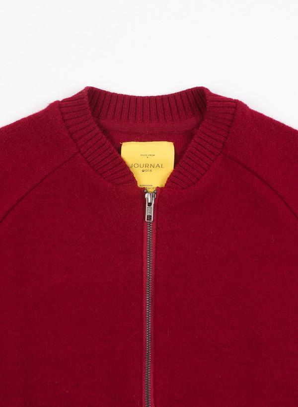 Men's Journal Boiled Cardigan Knit Biking Red