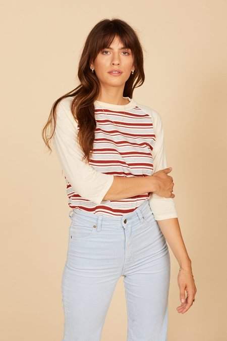 Camp Collection Kenny Baseball Tee - Striped