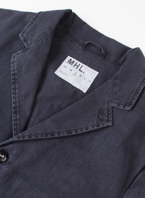 Men's MHL Margaret Howell Flap Pocket Blazer Indigo