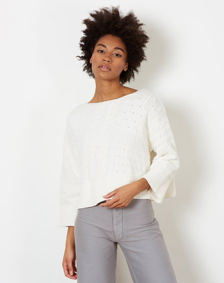 f8bed71a6b05 ... Demy Lee Lyan Sweater - White