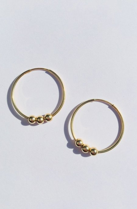 Paradigm Small Triple Ball Hoops - Gold