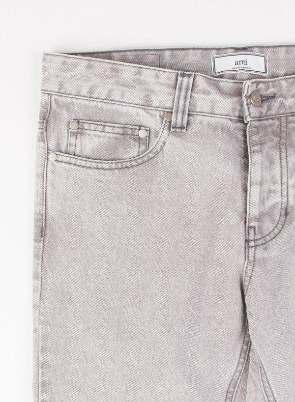 Men's AMI Alexandre Mattiusi Slim Fit 5 Pocket Jeans Acid Grey