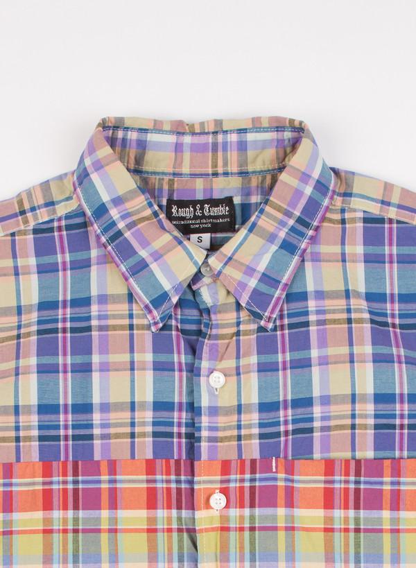 Men's Rough & Tumble Tri Combo Shirt Blue/Purple/Lime Plaid
