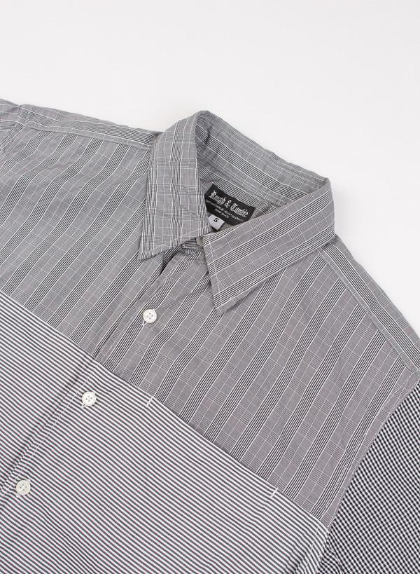 Men's Rough & Tumble Tri Combo Shirt Grey Glen Plaid