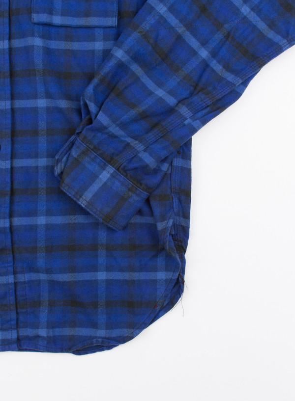 Work Shirt Blue/Navy Brushed Plaid