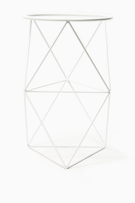 Eric Trine Double Octahedron Ring Plant Stand - White