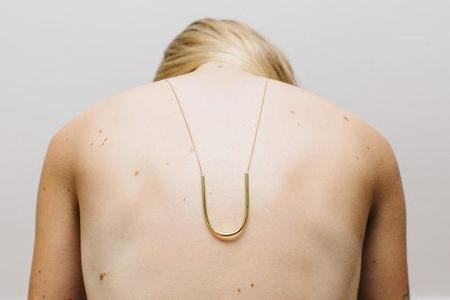 Cosmic Twin You Necklace - Brass