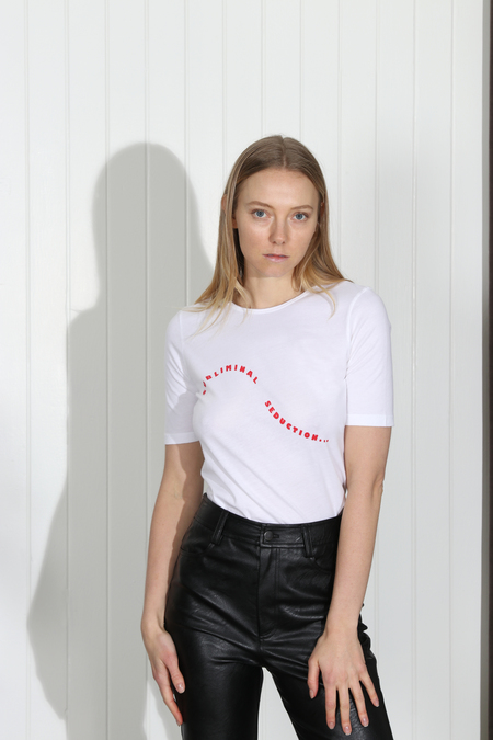 Monogram Subliminal Seduction Tee - White