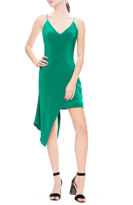 Cushnie Et Ochs Asymmetrical Mini Dress - Jade